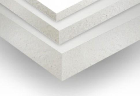 3 placas de pvc brancas com diferentes espessuras