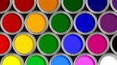 diversas cores de tinta para tampografia