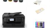 impressora com tinteiros e garrafas sublisplash