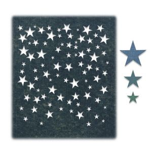 Cortante Sizzix Thinlits Falling Stars by Tim Holtz